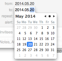 OS X graphical date picker
